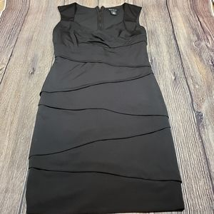 WHBM black bodycon dress size 4